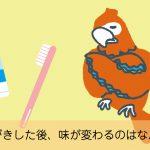 界面活性剤入りの歯磨き粉で歯を磨くと味が変わってしまう理由とは?