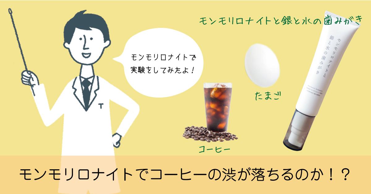 モンモリロナイト歯磨き粉でコーヒーの渋が落ちるのか吸着実験をしてみた