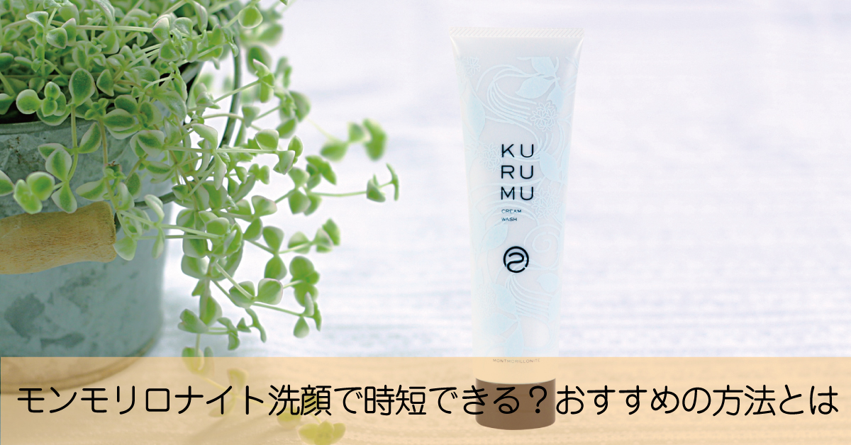 モンモリロナイト洗顔の時短のおすすめに使い方とは?