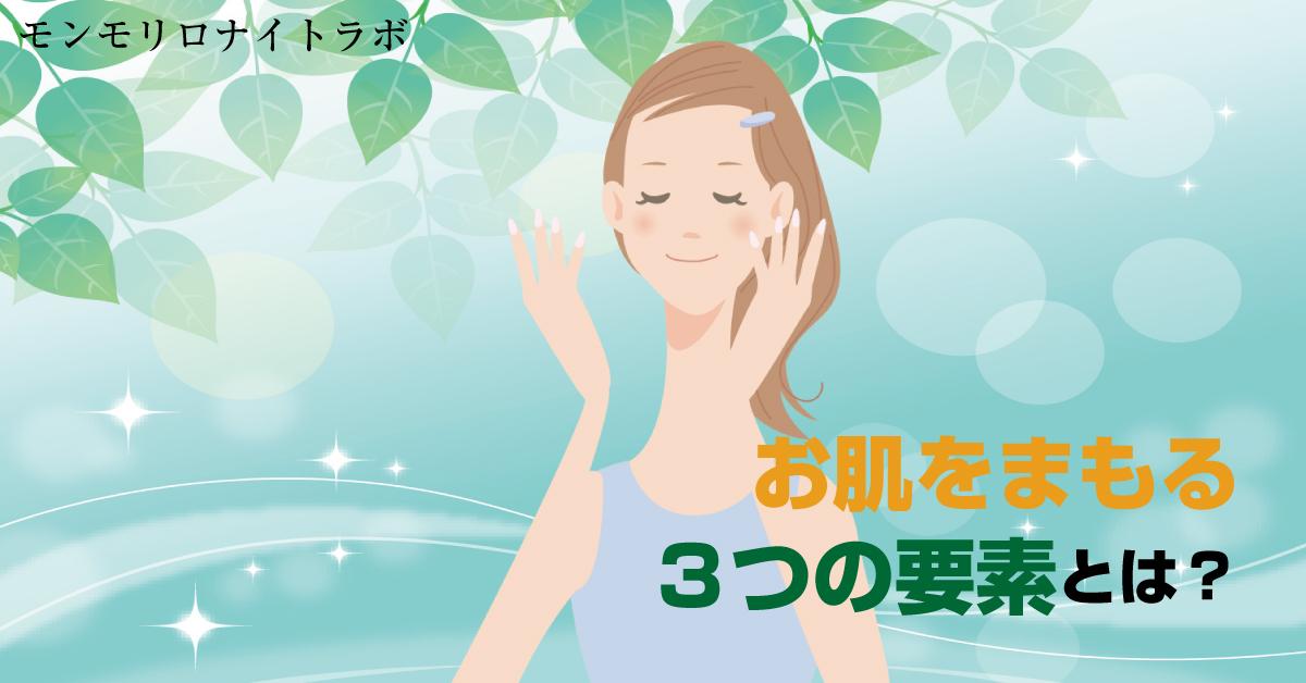 お肌をうるおいや乾燥からを守る3つの要素とは?