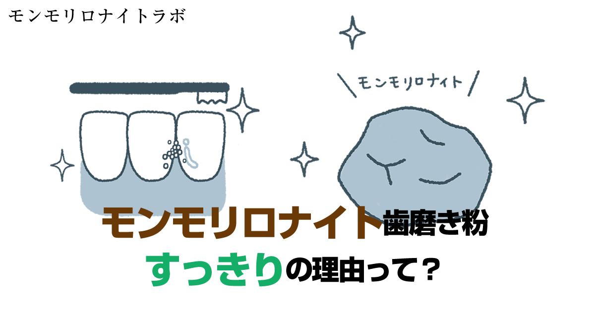 味覚障害の心配のないモンモリロナイト歯磨き粉がすっきりの理由3つとは?